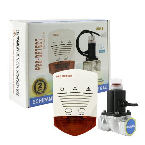 Detector gaz cu electrovalva 3/4″ la 12Vcc Pro Detect
