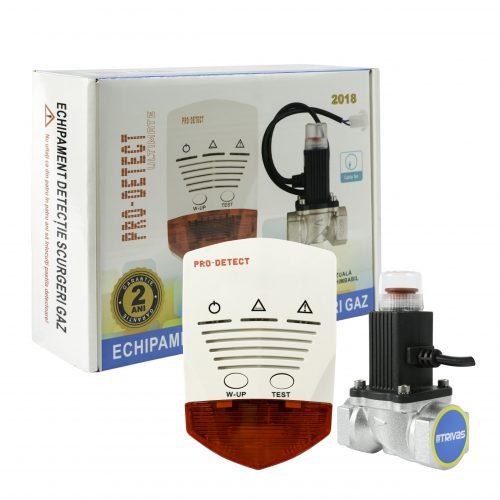 Kit detectie gaz cu electrovalva 3/4″ la 12Vcc Pro Detect